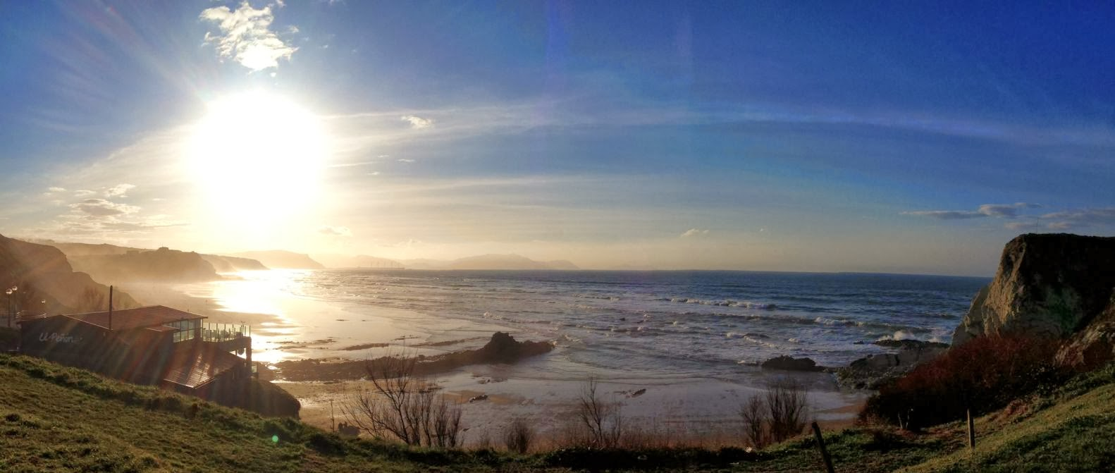 panoramica de la playa de sopelana