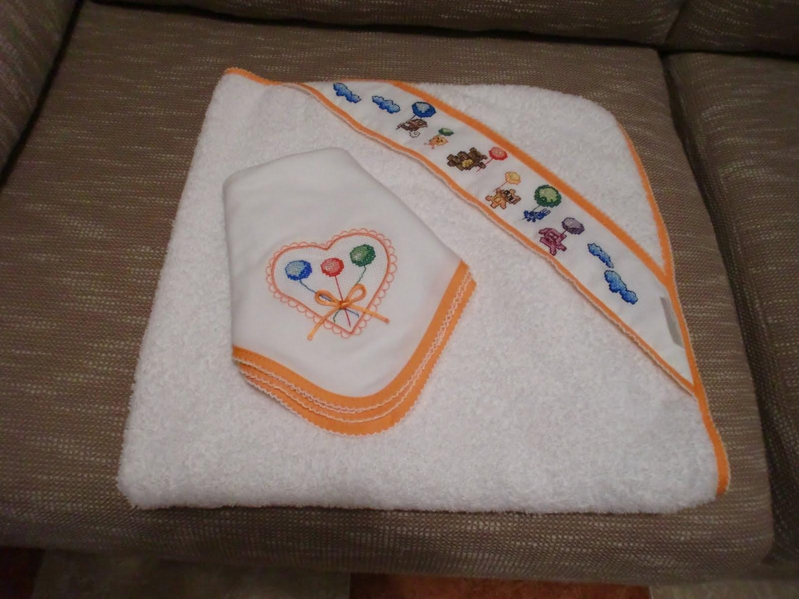 Las labores de sabella toalla ba o de beb - Toalla bano bebe ...