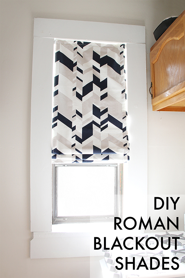 We Can Make Anything Diy Roman Blackout Shades