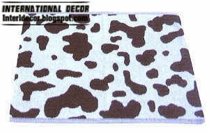 cows pattern bathroom rugs and rug sets