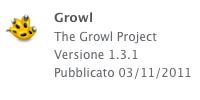 growl aggiornato sull'App Store