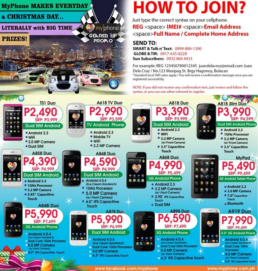 myphone buy a phone raffle promo until jan 15 2013. Black Bedroom Furniture Sets. Home Design Ideas