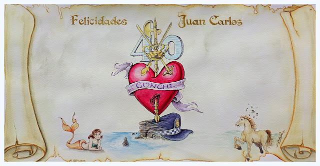 Special Birthday Card - Juan Carlos Elizabeth Casua, tHE 33ZTH oRDER