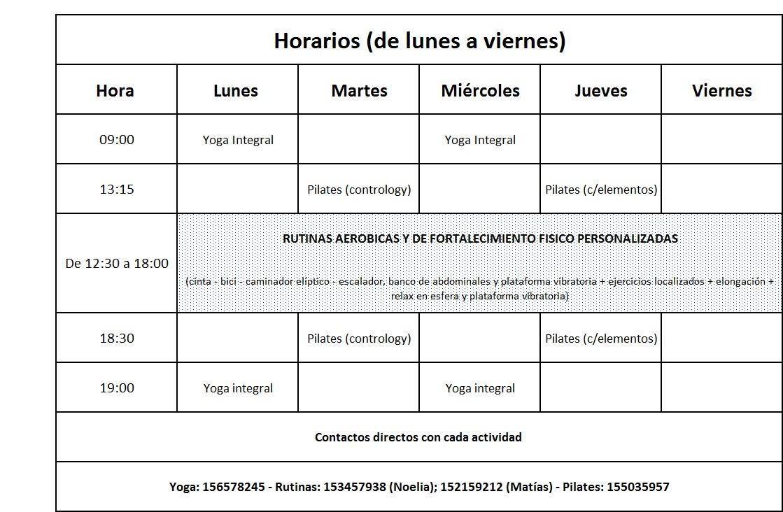 Area fit gimnasio rosario horario inicio marzo for Horario gimnasio