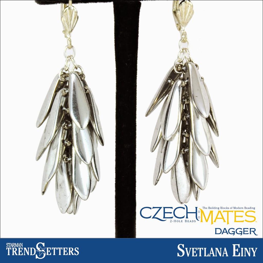 CzechMates Dagger earings by Starman TrendSetter Svetlana Einy