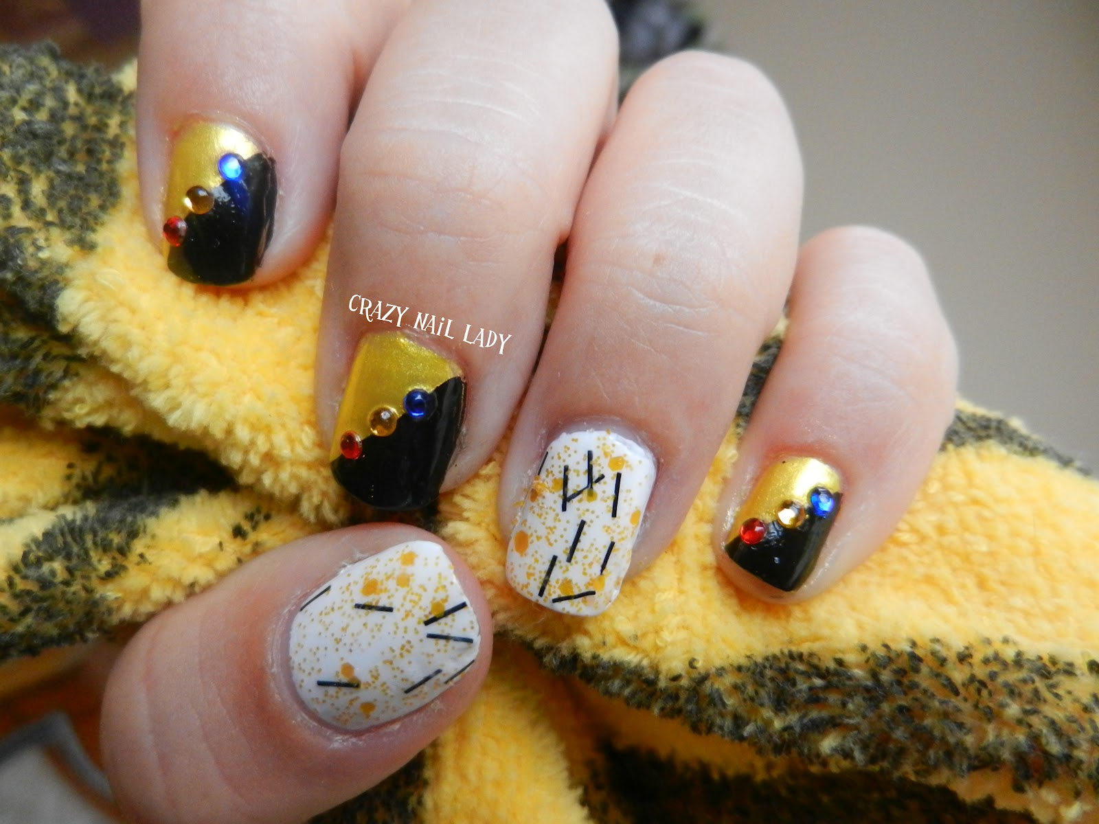 Crazy Nail Lady: Here we go Steelers (with a girly twist)