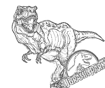 #6 Jurassic Park Coloring Page