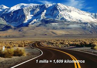 Equivalencia de la milla en kilómetros