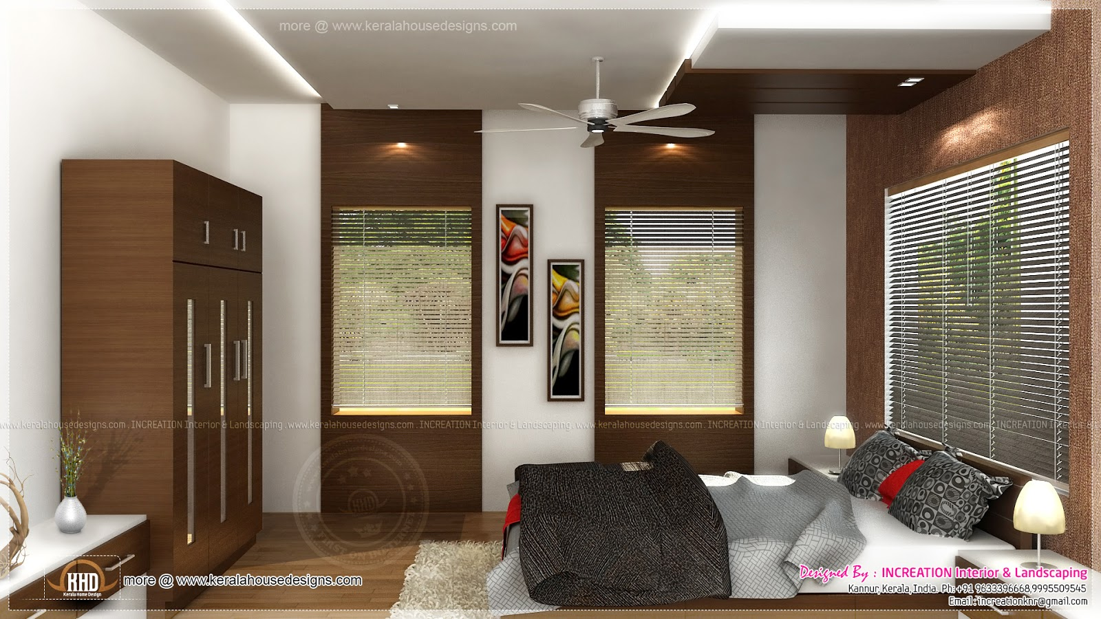 Bedroom design kerala style home decoration live for Kerala model interior designs