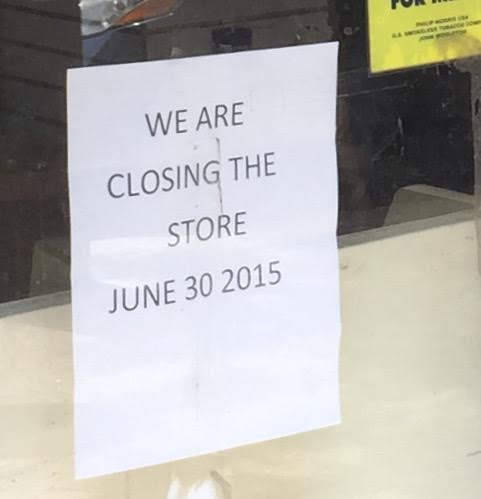 a sign in the window of the roosevelt island card nu0027 gift shop announces that the store is closing and out of business as of june 30