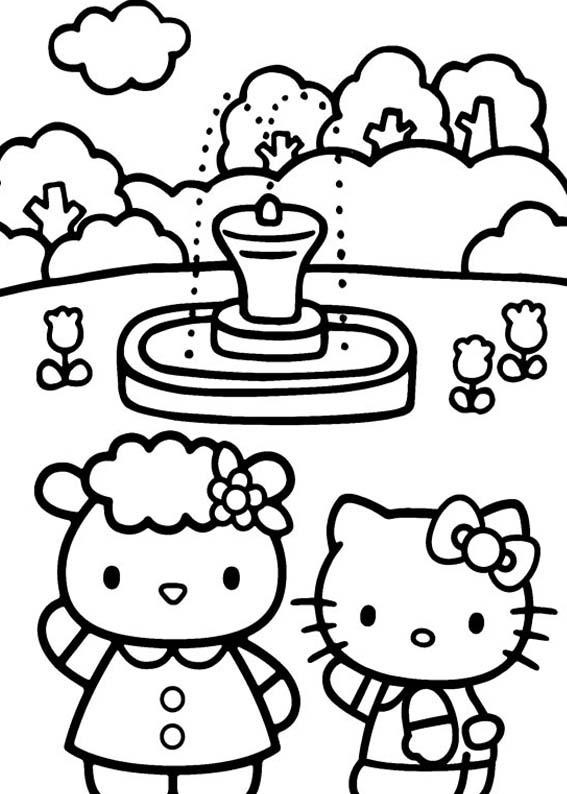 Desenho como desenhar Hello Kitty pintar e colorir