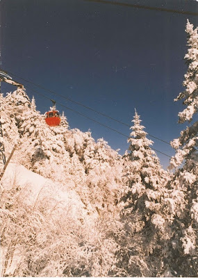 Gore's Old Red Gondola, March 1986, viewed from the Hawkeye trail.   The Saratoga Skier and Hiker, first-hand accounts of adventures in the Adirondacks and beyond, and Gore Mountain ski blog.