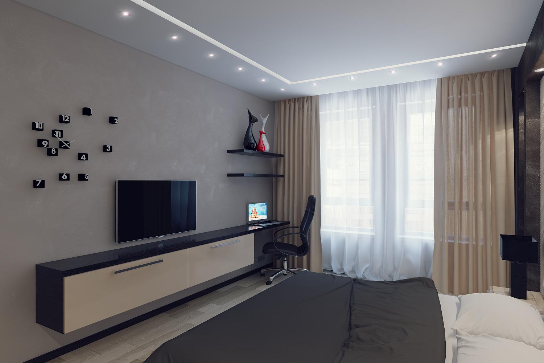 Интерьер комнаты сбоку