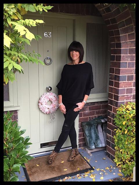My Midlife Fashion, Boden Leopard print joni ankle boots, zara distressed skinny jeans, zara asymmetric jumper, bella jane jewellery, charm bracelets