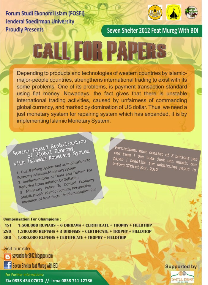 kajian paper Call for paper : authors are invited to submit electronically full paper through journal website and email to jurnal_kajian@dprgoid the submitted paper should.