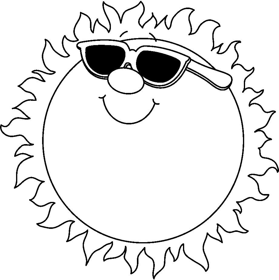 Sun Clipart Black And White | Search Results | Calendar 2015