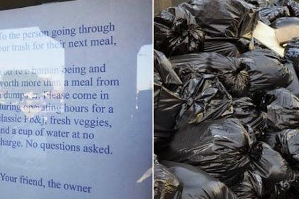 Pemilik Restoran Tawarkan Makan Gratis bagi Pemungut Sampah