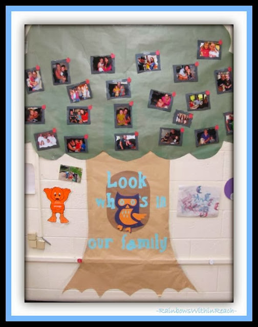 Family Tree Theme for Back to School Bulletin Board via RainbowsWithinReach