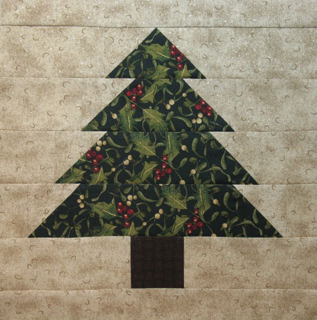 pine tree block or christmas tree block if you use christmas fabric like i did