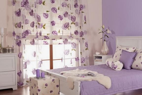 Dormitorio lila ideas para decorar colores en casa - Habitacion lila y blanca ...