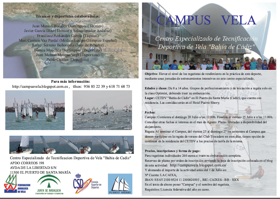 Folleto Campus Vela 2014