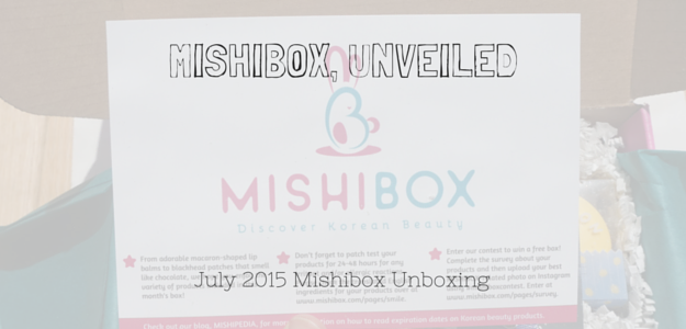 A slow and sensual unboxing of the July 2015 Mishibox - a Korean beauty subscription box. Confume. It's Skin. Missha. Kwailnara. MJ Care.
