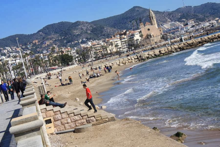 Promenade and beach of Sitges