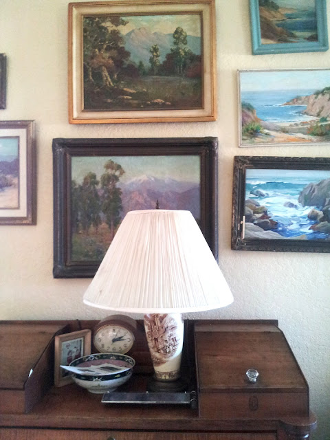 Living with art: California landscapes in a coastal cottage setting, from Studio, Garden and Bunglaow