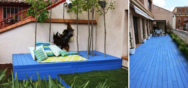 Casa Decor- Terraza azul