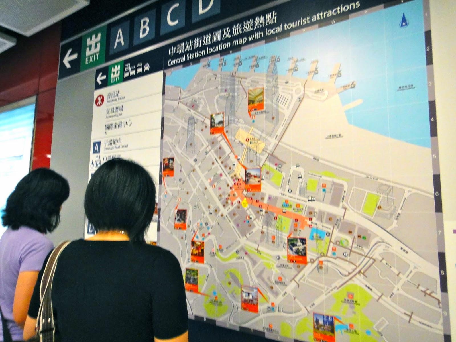 Hong Kong Central MTR Map