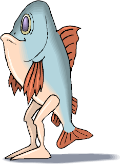 Fantasy Standing Fish Free Clipart