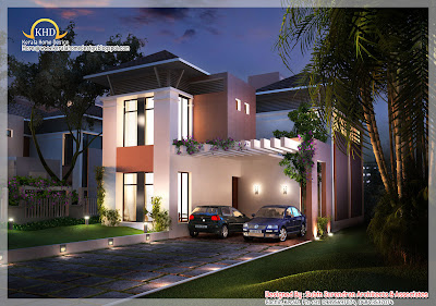 204 square meter (2200 sq.ft.) house elevation design