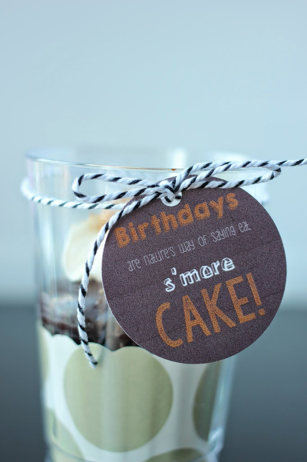 Free eat s'more cake printable gift tag