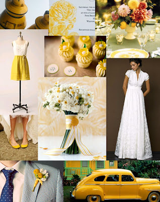 yellow wedding inspiration board