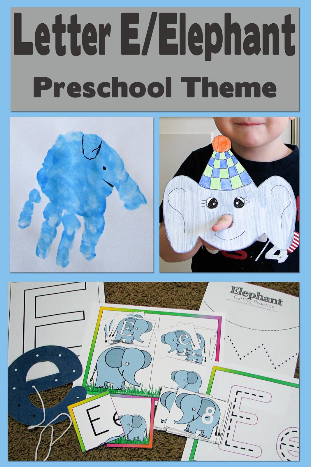 mommy u0026 39 s little helper  letter e  elephant preschool theme
