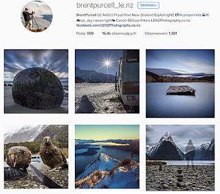 Brent Purcell, ciekawe profile podróżnicze, Instagram