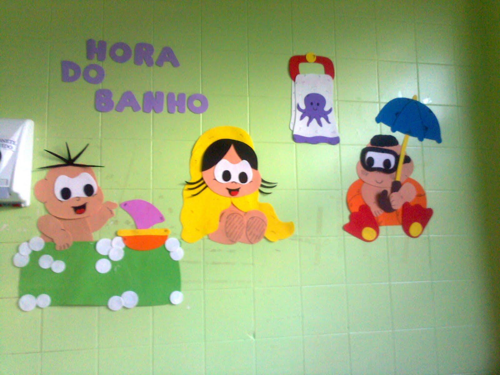 JUJU ARTE EM EVA DECORAÇÃO PARA BANHEIRO -> Decoracao Banheiro Educacao Infantil