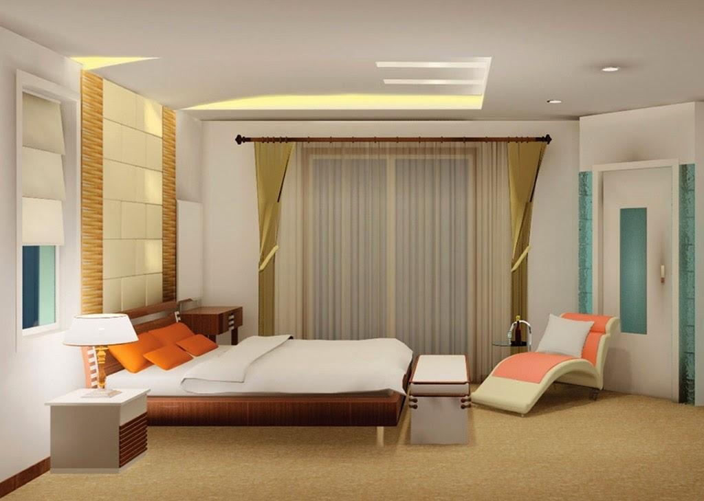 plafon kamar tidur minimalis warna putih