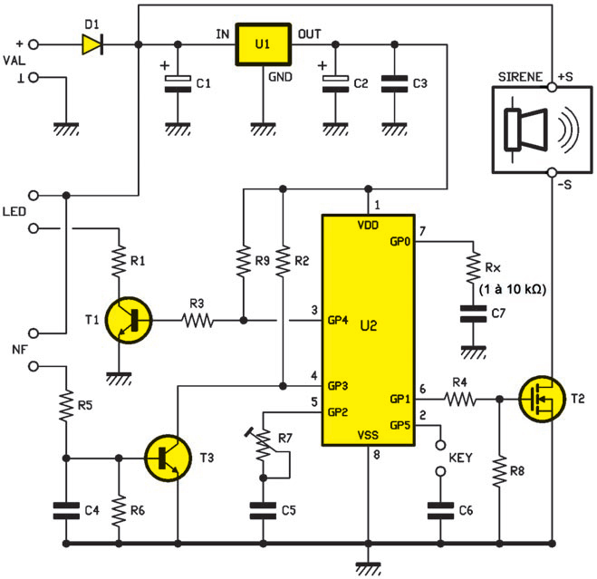 Un Antivol Simple Et Compact Schema Electronique Net
