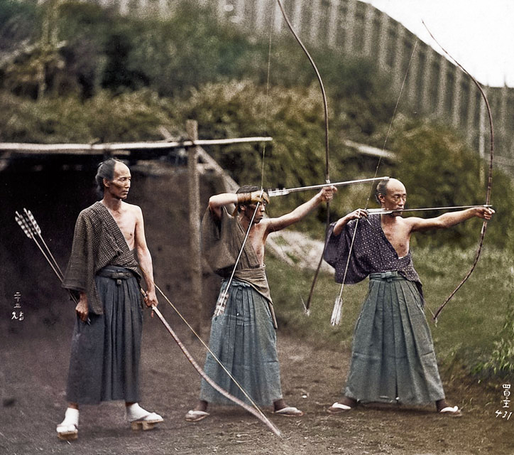 40 Amazing Historical Pictures - Japanese Archers circa 1860.