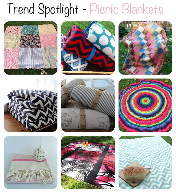 Picnic Blankets is the Trend Spotlight for this week featuring the best picnic blankets on Etsy!