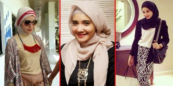 Gambar Cara Berhijab Artis Cantik Indonesia Trend Model Jilbab