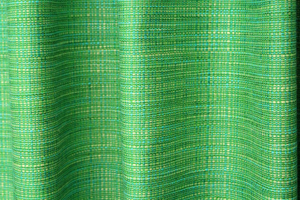 Green and aqua tweed fabric