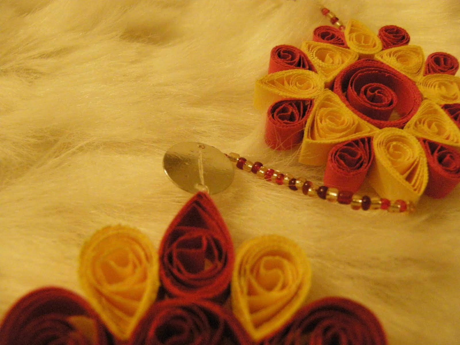 Deco quilling stuff pentru cei ce iubesc culorile rosu si for Deco quilling