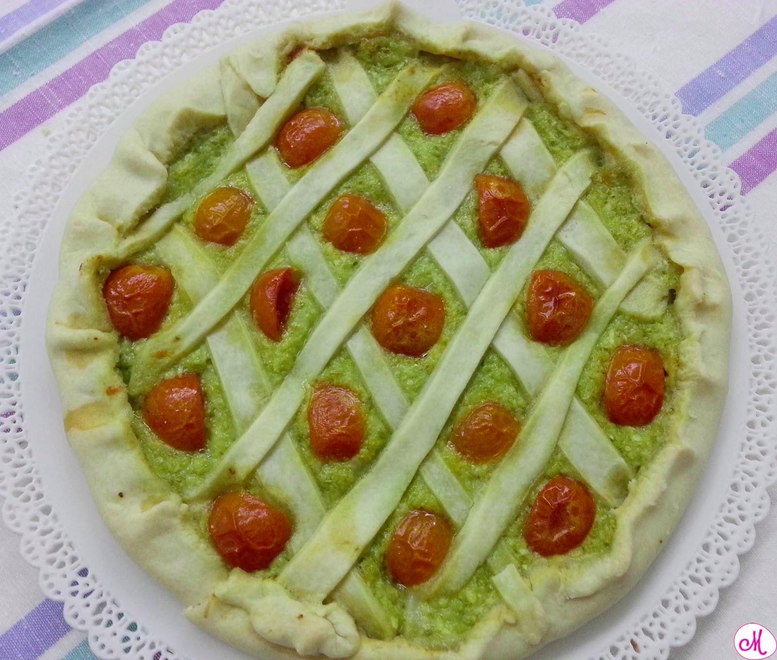 torta rustica zucchine e pomodorini