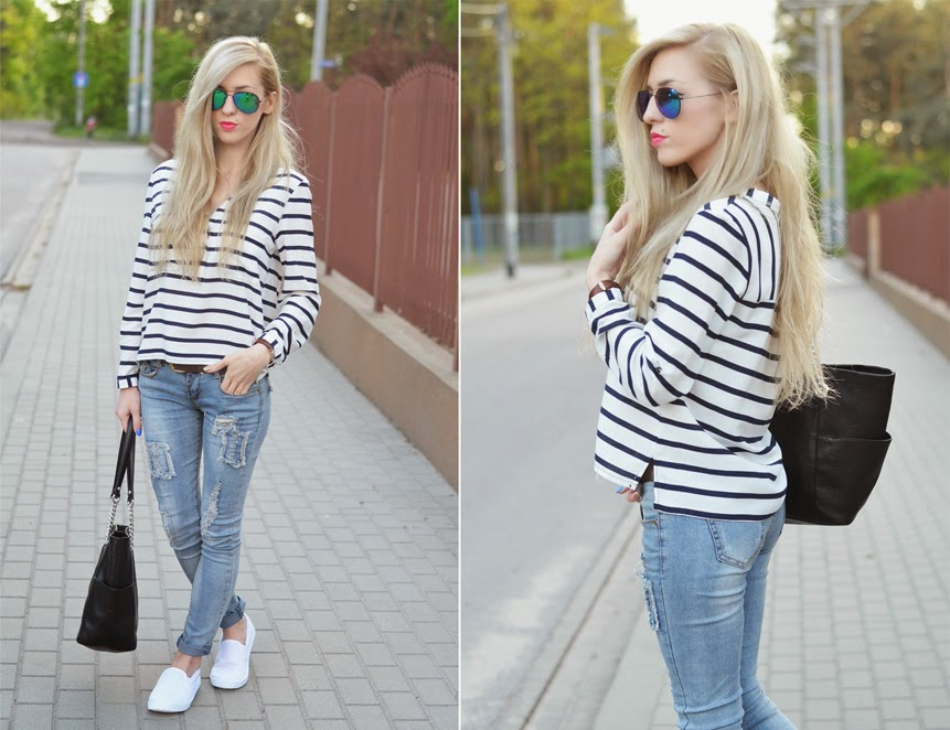 http://www.6ks.com/v-neck-black-white-stripes-high-low-hem-chiffon-blouse_d6975.html