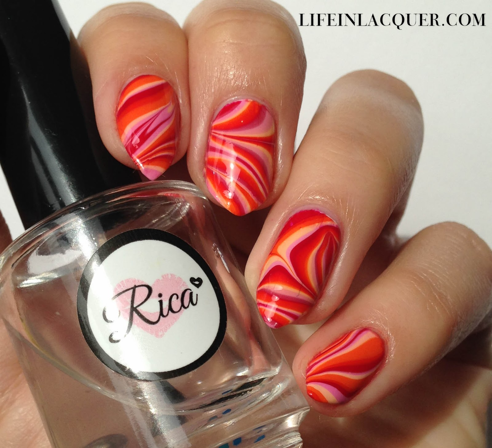 Water Marbling Decal Nail Art essie