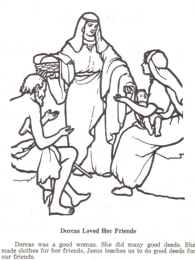 Christian images in my treasure box bible pictures for Dorcas in the bible coloring pages