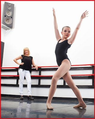 Jill Vertes watches daughter Kendall rehearse on Dance Moms
