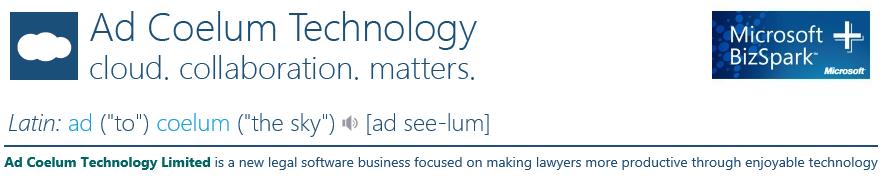 Ad Coelum Legal Technology Blog